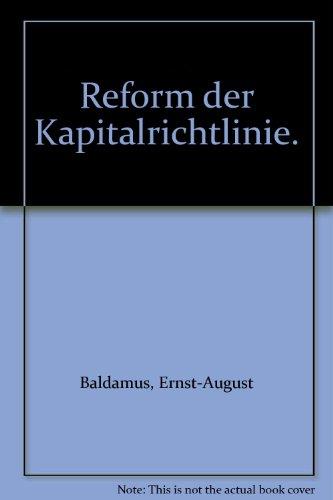 9783452253811: Reform der Kapitalrichtlinie.