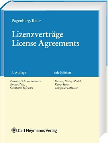 9783452256881: Lizenzverträge. License Agreements