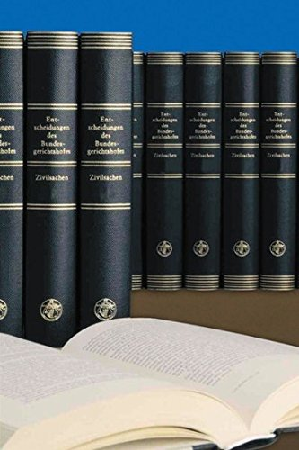 9783452263278: Entscheidungen des Bundesgerichtshofes in Zivilsachen BGHZ: Generalregister zu Band 151-160: BD 151-160
