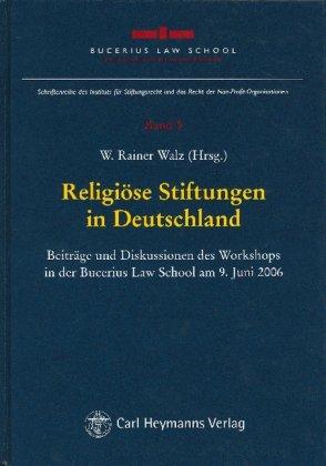 9783452265807: Religiöse Stiftungen in Deutschland