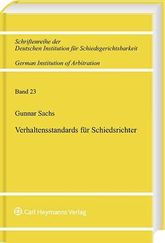 Verhaltensstandards für Schiedsrichter: Gunnar Sachs