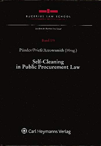 9783452272249: Self Cleaning In Public Procurement Law