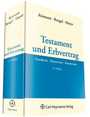 Testament und Erbvertrag: Wolfgang Reimann