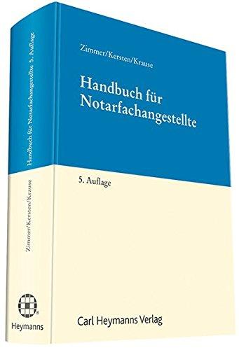 Handbuch für Notarfachangestellte: Maximilian Zimmer