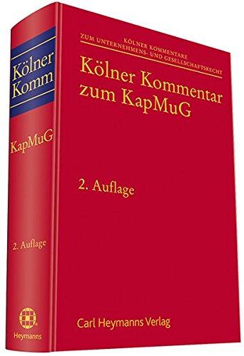 Kölner Kommentar zum Kapitalmusterverfahrensgesetz (KapMuG): Burkhard Hess