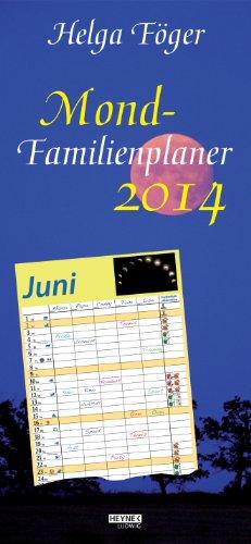 9783453237445: Mond Familienplaner 2014: Wandkalender