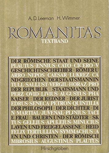 Romanitas. Synthematisches Lesebuch der lateinischen Literatur -: Anton D Leeman