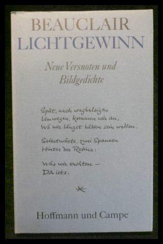 9783455007015: Lichtgewinn: Neue Versnoten und Bildgedichte (German Edition)