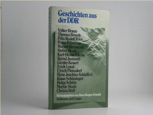 Geschichten Aus Der DDR: Schmitt, Hans-Jurgen, Ed.