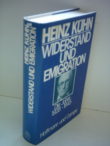 9783455088427: Widerstand und Emigration: D. Jahre 1928-1945 (German Edition)