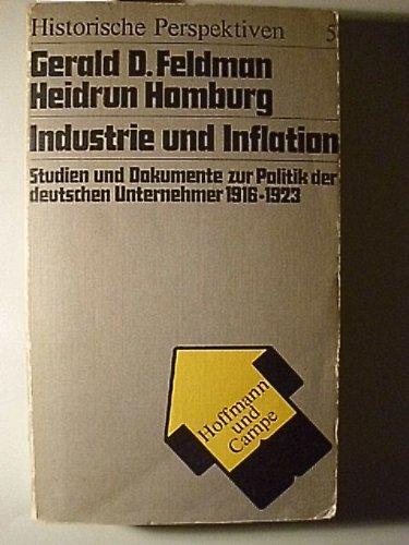 9783455092097: Industrie und Inflation. Studien und Dokumente zur Politik der deutschen Unternehmer 1916-1923 (Historische Perspektiven ; 5)
