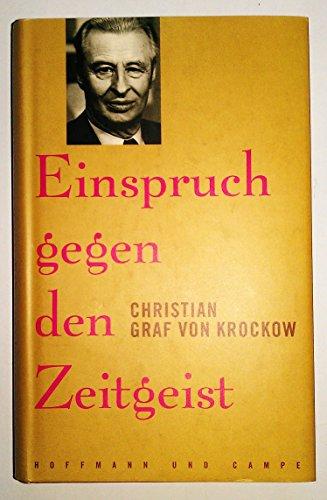 9783455093612: Einspruch gegen den Zeitgeist.