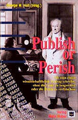 9783456828848: Publish or Perish.