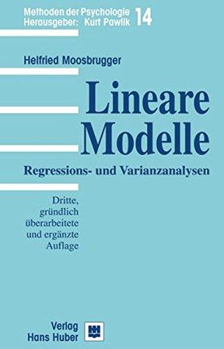 9783456839011: Lineare Modelle: Regressions- und Varianzanalysen