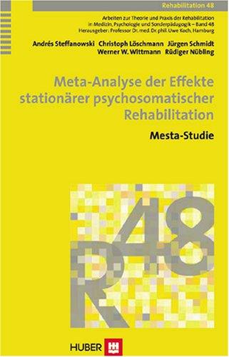 9783456844718: Meta-Analyse der Effekte stationärer psychosomatischer Rehabilitation