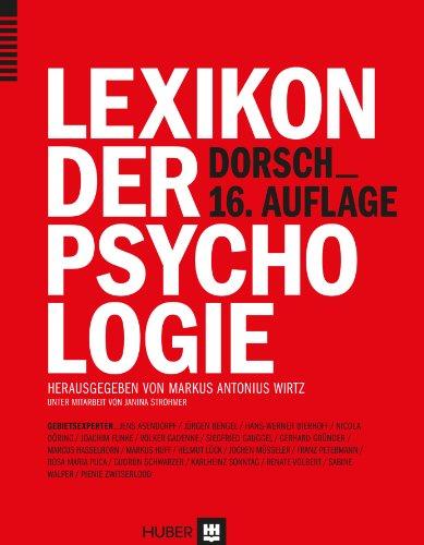 9783456852348: Dorsch - Lexikon der Psychologie 2014/2015
