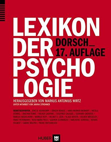 9783456854601: Dorsch - Lexikon der Psychologie
