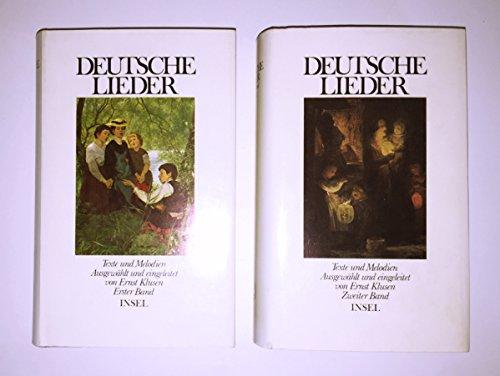9783458048275: Deutsche Lieder: Texte und Melodien in Two Volumes