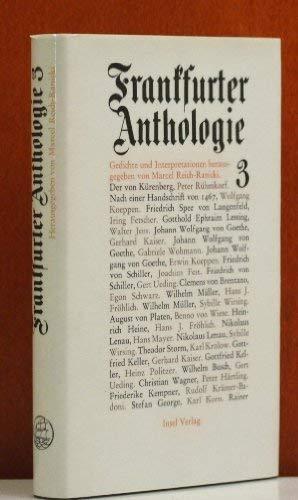 9783458058472: Frankfurter Anthologie. Dritter (3.) Band.