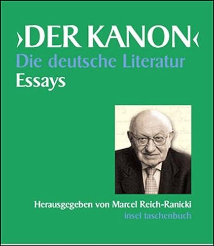 9783458068303: Der Kanon. Die deutsche Literatur. 5 Bde