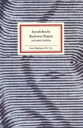 9783458088103 Buckower Elegien Und Andere Gedichte