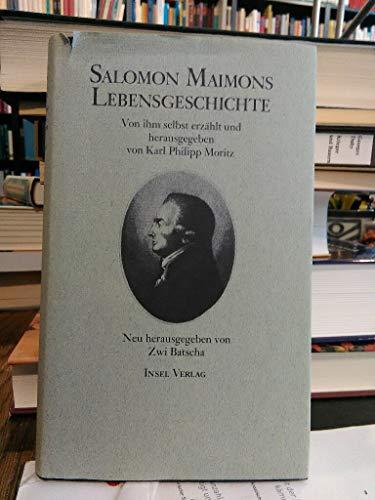 9783458141426: Salomon Maimons Lebensgeschichte. Von ihm selbst erzählt
