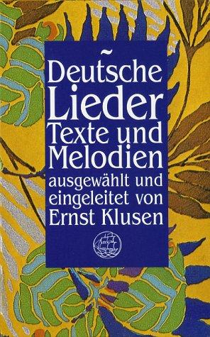 9783458148555: Deutsche Lieder. Texte und Melodien.