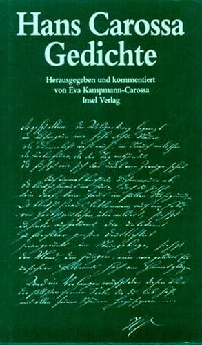 9783458167174: Gedichte: Die Veroffentlichungen zu Lebzeiten und Gedichte aus dem Nachlass