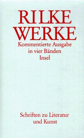 Werke, Kommentierte Ausgabe, 4 Bde. Rilke, Rainer Maria; Engel.