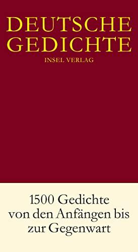 9783458174400 Deutsche Gedichte 1500 Gedichte Von Den