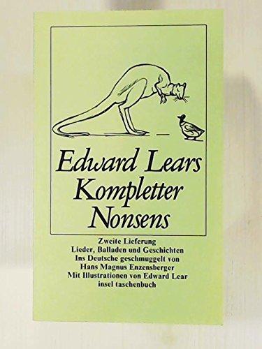Edward Lears Kompletter Nonsens II. Zweite Lieferung. Lieder, Balladen und Geschichten. (3458322027) by [???]