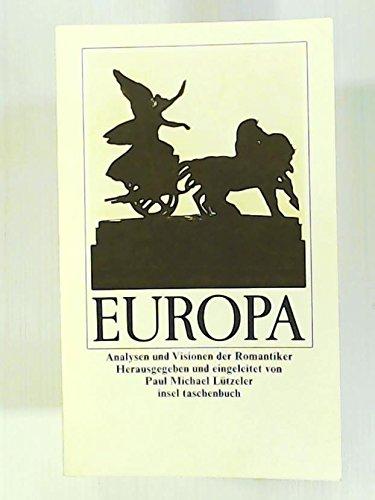 9783458323389: Europa: Analysen und Visionen der Romantiker (Insel Taschenbuch) (German Edition)