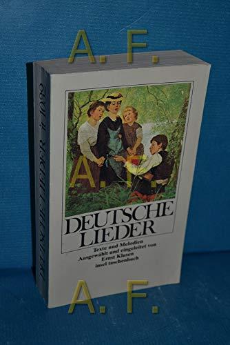 9783458327325: Deutsche Lieder. Texte und Melodien