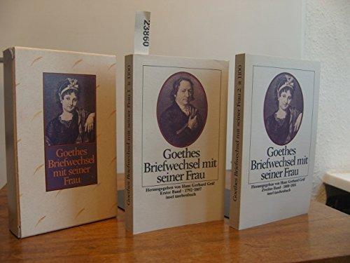 Goethes Briefwechsel mit seiner Frau [Neubuch] Beide Bände - von Goehte, Johann W. und Christiane Vulpius