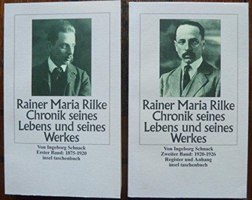 9783458329640: Rainer Maria Rilke, Chronik seines Lebens und seines Werkes: Ester Band: 1875-1920