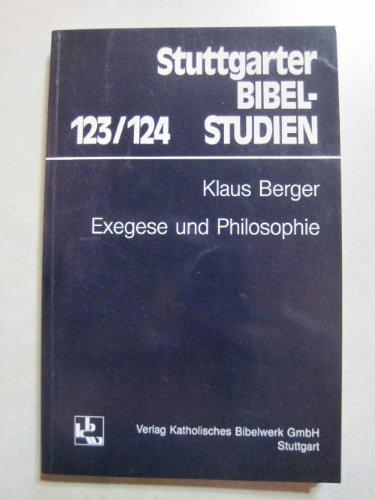 9783460042315: Exegese und Philosophie (Stuttgarter Bibelstudien)