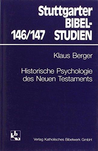 9783460044616: Historische Psychologie des Neuen Testaments