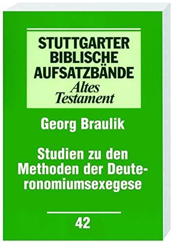 9783460064218: Studien zu den Methoden der Deuteronomiumsexegese