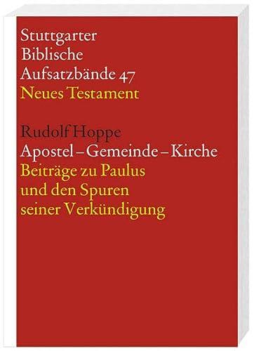 Apostel - Gemeinde - Kirche: Rudolf Hoppe