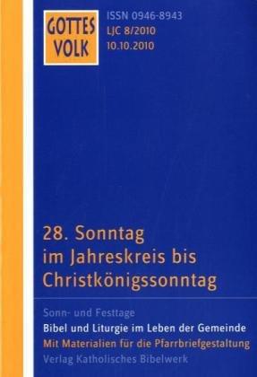 9783460266889: Gottes Volk LJ C8/2010: 28. Sonntag im Jahreskreis bis Christkönigssonntag