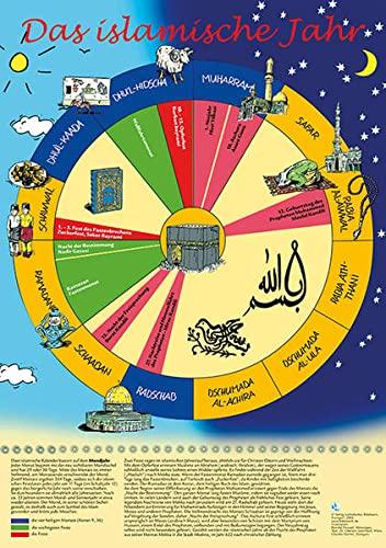 9783460280496: Das islamische Jahr, farbige Wandkarte