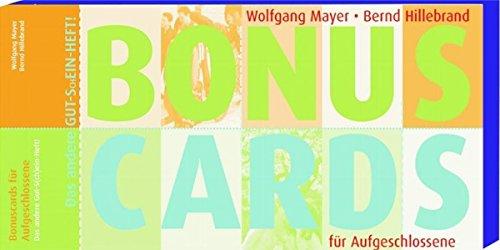 9783460302358: Bonuscards f�r Aufgeschlossene: Das andere Gut-S(ch)ein-Heft!