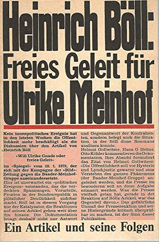 Heinrich Böll, freies Geleit für Ulrike Meinhof : ein Artikel und seine Folgen. pocket 36. - Grützbach, Frank [Hrsg.] und Böll, Heinrich
