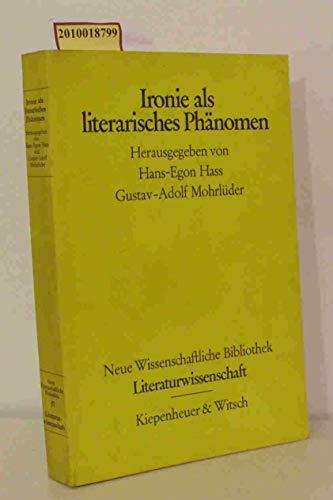 9783462009231: Ironie als literarisches Phänomen (Taschenbuch)