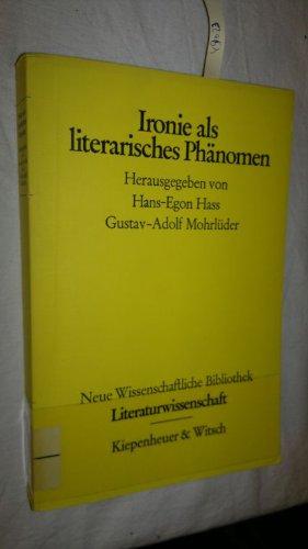 IRONIE ALS LITERARISCHES PHAENOMEN: Hass, Hans-Egon (Hrsg.)