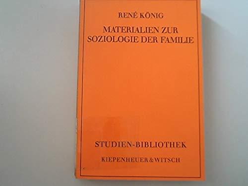 9783462009873: Materialien zur Soziologie der Familie (Studien-Bibliothek) (German Edition)