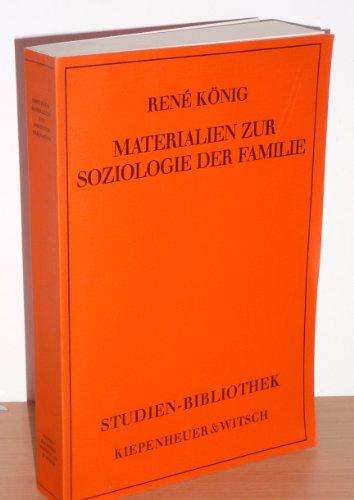 9783462009880: Materialien zur Soziologie der Familie