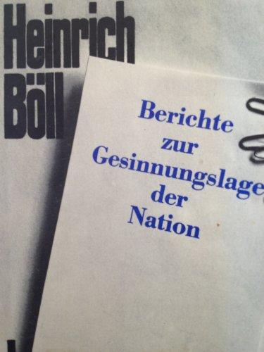 9783462011173: Berichte zur Gesinnungslage der Nation (Pocket)