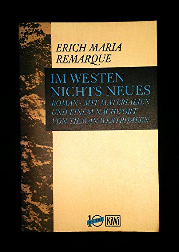 Im Westen nichts Neues. (5357 837). Roman.