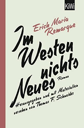 9783462046328: Im Westen nichts Neues: Roman. Mit Materialien